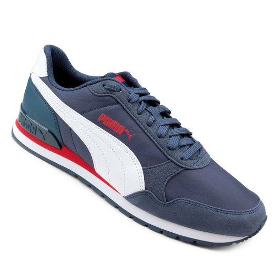 Tênis Puma St Runner V2 Nl - Branco e Azul - Compre Agora  08ba167d8eb0f