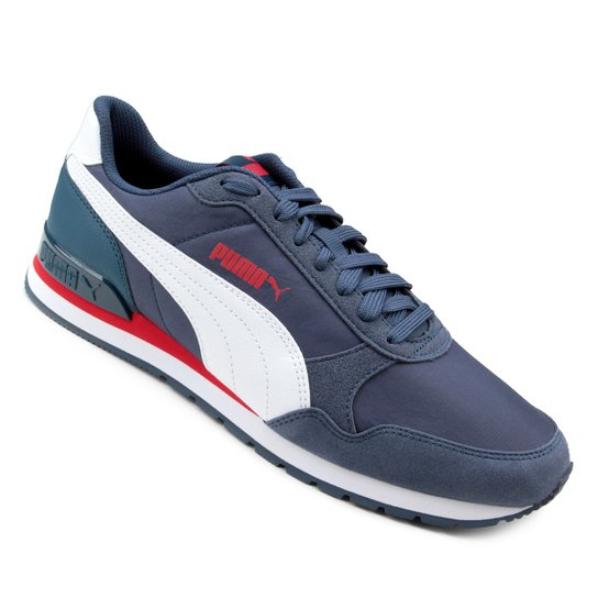 c0b04913a5 Tênis Puma St Runner V2 Nl - Branco e Azul
