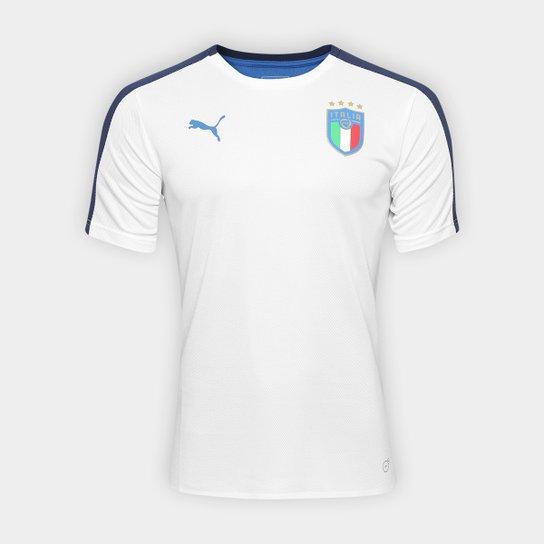 563cb73fc5 Camisa Itália Stadium Puma Masculina - Branco e Azul - Compre Agora ...