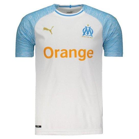 24cc690e302 Camisa Puma Olympique De Marseille Home 2019 N°10 Masculina - Branco+Azul