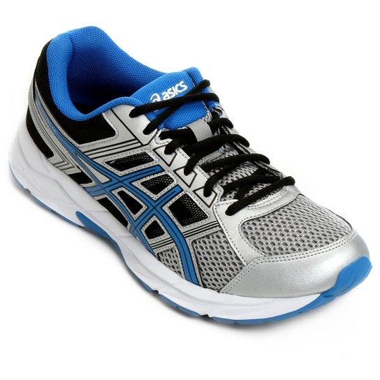 Tênis Asics Gel Contend 4 A Masculino - Prata e Azul Claro - Compre ... 5fc6a3836278d