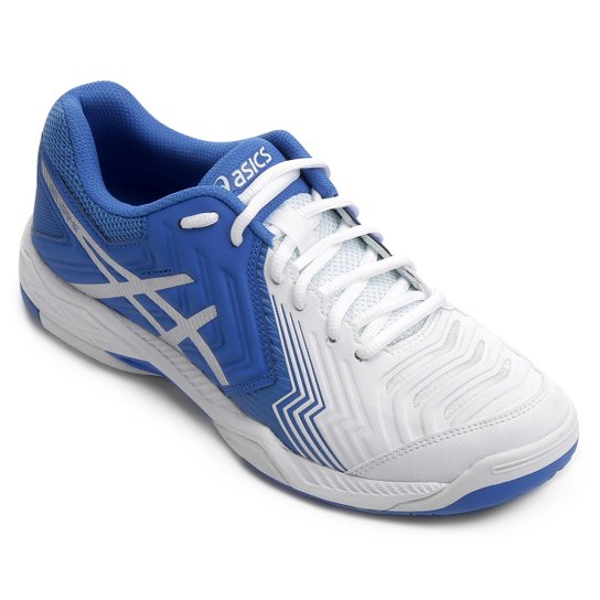 ef3fd333fe Tênis Asics Gel Game 6 Masculino - Branco e Azul - Compre Agora ...