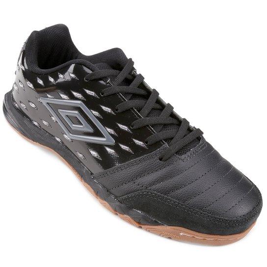 Chuteira Futsal Umbro Stratus Pro - Preto e Chumbo - Compre Agora ... 3bc1a53c819b2