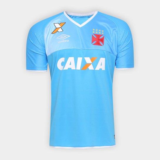 Camisa Vasco Goleiro 17 18 s nº Torcedor Umbro Masculina - Azul Claro+ d42e315ecb860