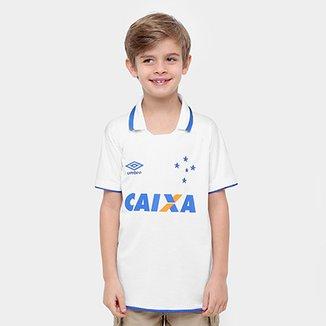 Camisa Cruzeiro Infantil II 17 18 s nº Torcedor Umbro 3cf01fb90d31f