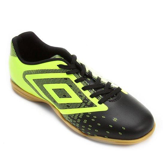a9846fc955032 Chuteira Futsal Umbro Flux Masculina - Preto e verde - Compre Agora ...