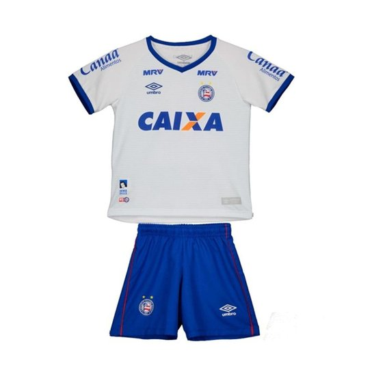 Kit Bahia Umbro Infantil Camisa + Short - Branco e Azul - Compre ... f449b429a6f40