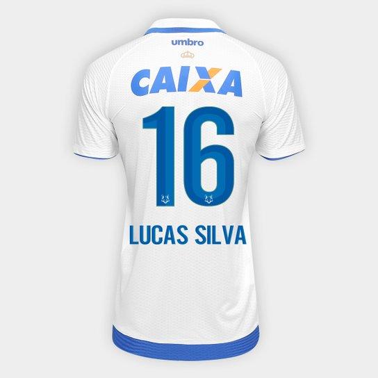Camisa Cruzeiro II 17 18 nº 16 Lucas Silva - Torcedor Umbro Masculina -  Branco 42d42a0c02e4b
