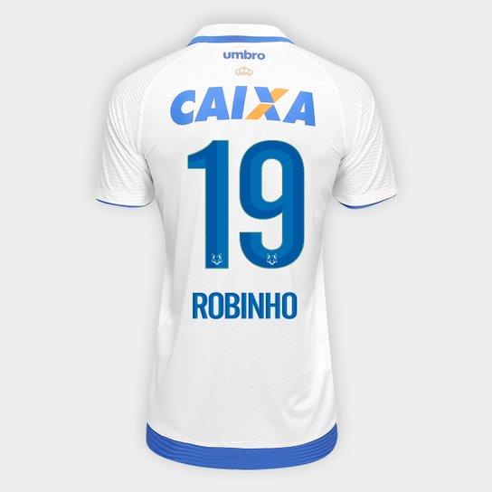 156d9646f Camisa Cruzeiro II 17 18 nº 19 - Robinho Torcedor Umbro Masculina - Branco+