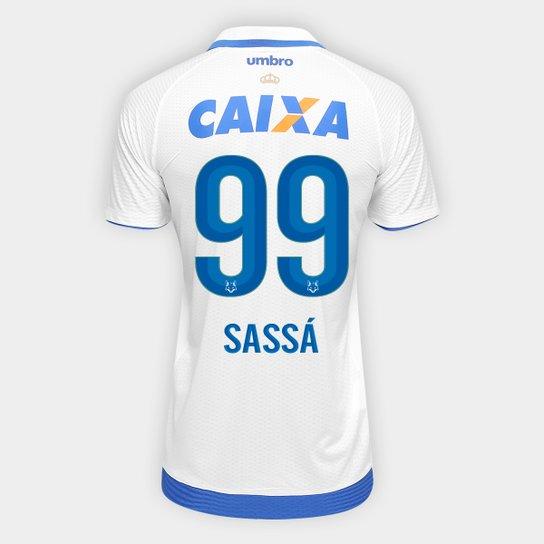 Camisa Cruzeiro II 17 18 nº 99 Sassá - Torcedor Umbro Masculina - Branco+ ea122fe0fa1a1