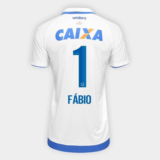 85e59e2a8e21a Camisa Cruzeiro II 17 18 nº 1 Fábio - Torcedor Umbro Masculina - Branco+