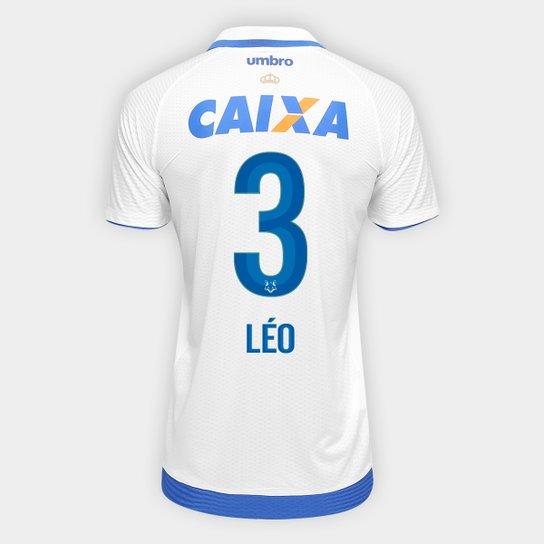 18cdf53af Camisa Cruzeiro II 17 18 nº 3 - Léo Torcedor Umbro Masculina - Branco+