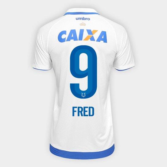 a2bfe63dd Camisa Cruzeiro II 17 18 Nº 9 - Fred Torcedor Umbro Masculina - Branco+