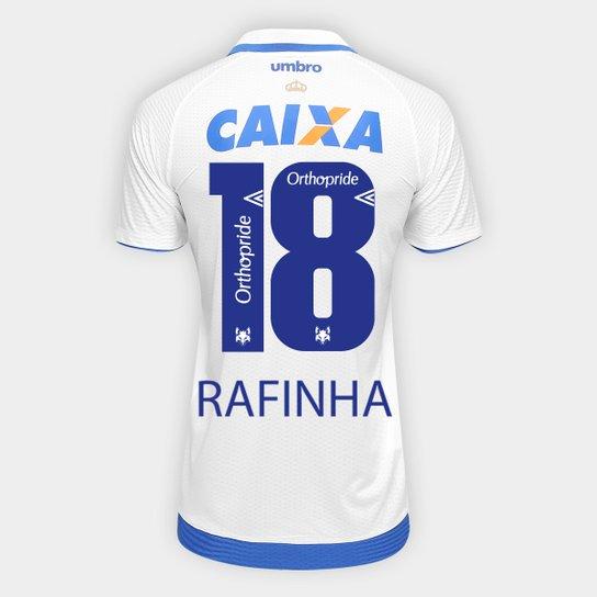 3e36d9e9e3 Camisa Cruzeiro II 17 18 N° 18 Rafinha Torcedor Umbro Masculina - Branco+