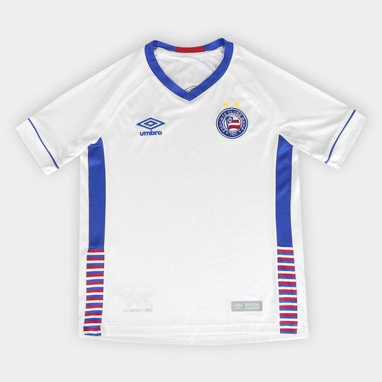 Camisa Bahia Infantil I 2018 s n° SK-1 Torcedor Umbro - Branco e ... 564af9492b889