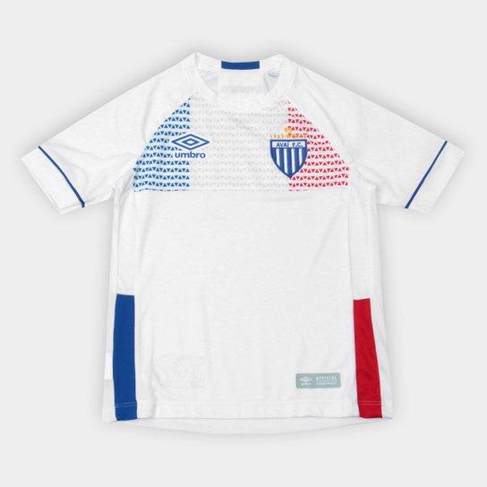 Camisa Avaí II Infantil 2018 s n° Lion Bleu Torcedor Umbro Infantil - Branco c80c545eb3d01