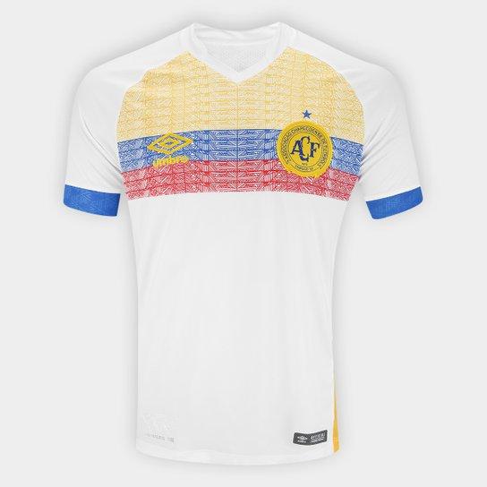 e6f4884445 Camisa Chapecoense II 2018 s n° La Pasion Torcedor Umbro Masculina - Branco+