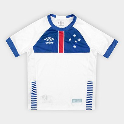 Camisa Cruzeiro II Infantil 2018 s/n° Blaa Vikingur Torcedor Umbro