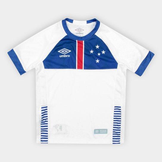 Camisa Cruzeiro II Infantil 2018 s n° Blaa Vikingur Torcedor Umbro - Branco+ c3d6a53e38