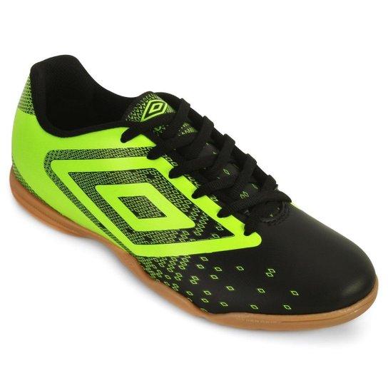 82fea726ea22e Chuteira Futsal Umbro Flux UB18 Masculino - Preto e verde - Compre ...