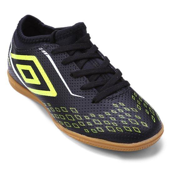 Chuteira Futsal Infantil Umbro Velox - Preto e verde - Compre Agora ... 545b62f031129