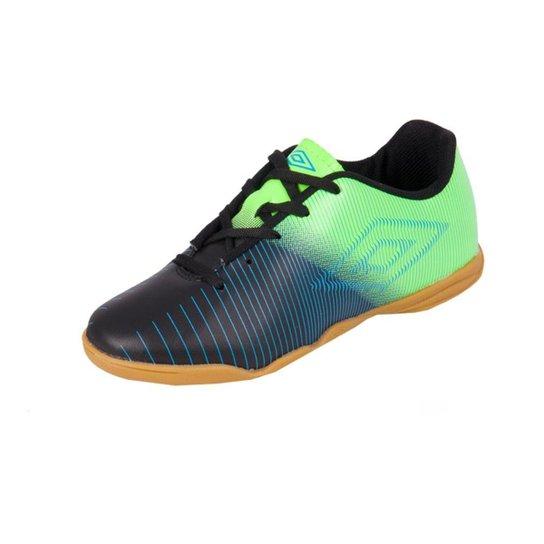 7216f5e041 Chuteira Futsal Infantil Umbro Vibe - Preto e verde