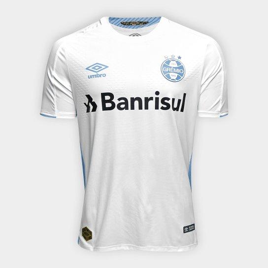 0a75503c38 Camisa Grêmio II 19/20 s/nº Jogador Umbro Masculina - Branco e Azul ...
