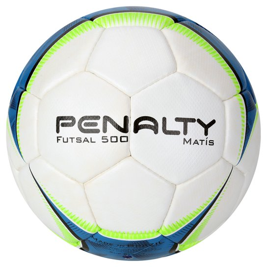 Bola Futebol Penalty Matis 500 5 Futsal - Branco+Azul Royal 8b99b520a8c04
