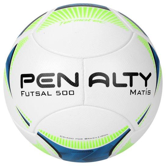 5d8073eb014a1 Bola Futebol Penalty Matis Termotec 5 Futsal - Branco+Azul ...