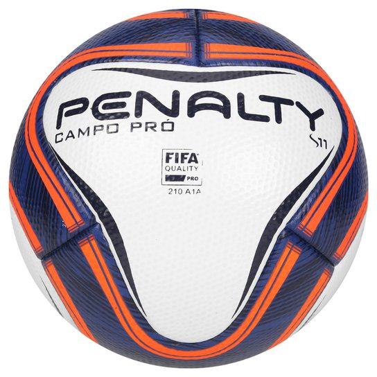605ab62d98450 Bola Futebol Campo Penalty S11 Pro VI - Branco+Marinho