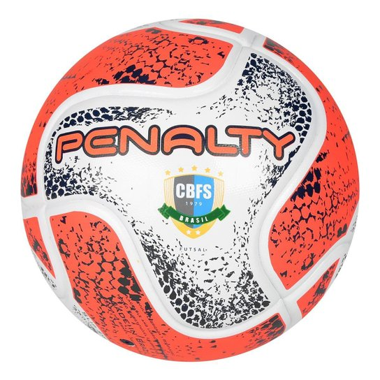 7adad2f205c51 Bola Futsal Penalty Max 50 CBFS VIII - Branco e Laranja - Compre ...