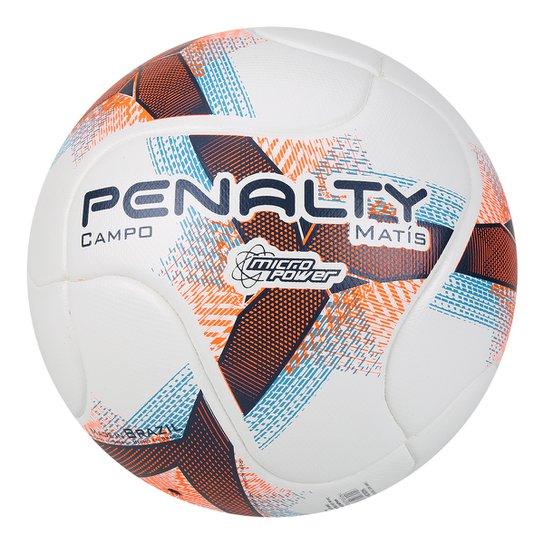 Bola Campo Penalty Matis Termotec VIII - Branco e Azul - Compre ... 8a05e98694a9d