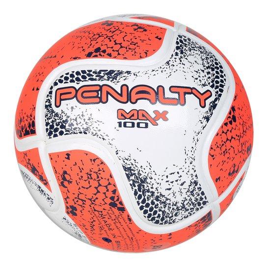 Bola Futsal Penalty Max 100 Term VIII - Branco e Laranja - Compre ... 08cee625e1a7f