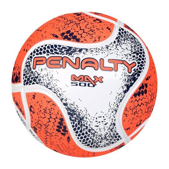 Bola Futsal Penalty Max 500 Term VIII - Branco e Laranja - Compre ... 9c34750993e79