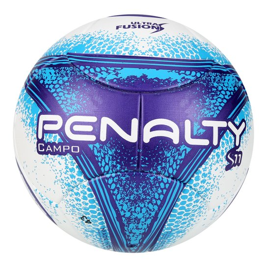 Bola Futebol Campo Penalty S11 R3 Fusion VIII - Branco e Azul ... 7a3ea369dee6a