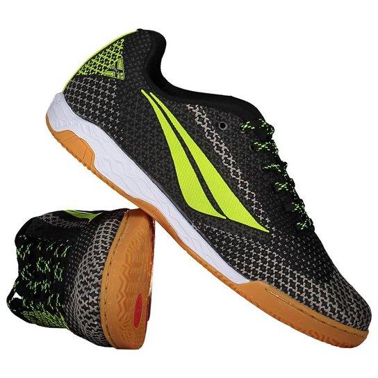 a1f77daf2a Chuteira Futsal Penalty Max 500 - Preto e verde   Netshoes