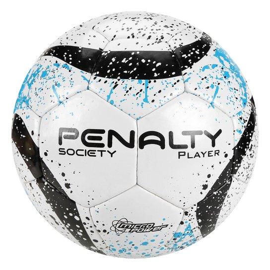 34bd65277 Bola de Futebol Society Penalty Player II VII - Branco+Azul