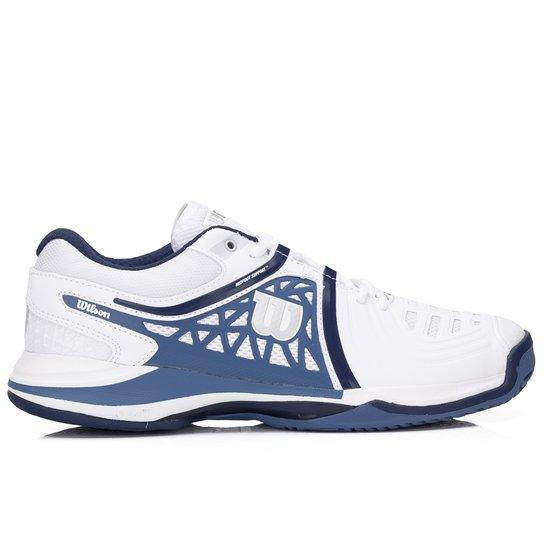 1401cdd8d09 Tênis Wilson NVision Elite Branco Azul e Marinho-38 - Compre Agora ...