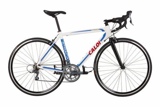 0b1118024 Bicicleta aro 700 Caloi Strada - Branco+Azul