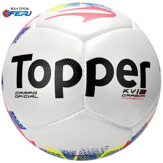 Bola Futebol Topper KV Carbon Oficial Campo - Compre Agora  7761a357c6cf1