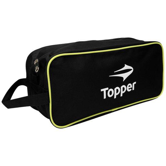 5d9269adb2 Porta-Chuteira Topper Sport - Preto+Verde Limão