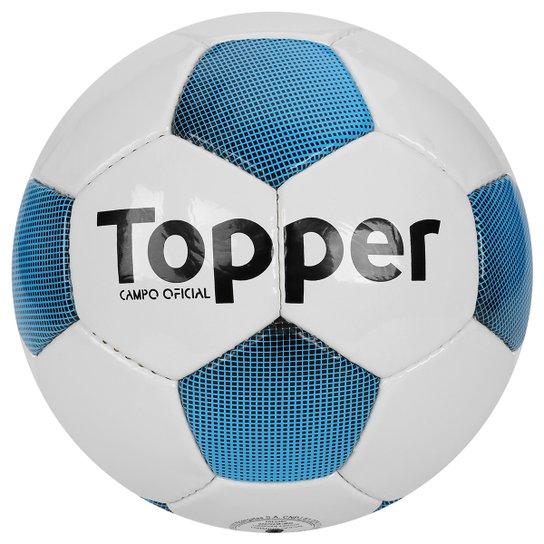 3958202a59 Bola Futebol Campo Topper Extreme 4 - Branco e Azul - Compre Agora ...