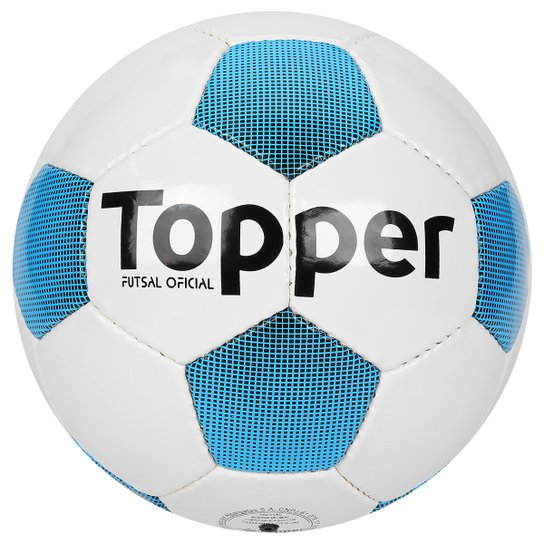 Bola Futebol Topper Extreme 4 Futsal - Branco+Azul Piscina e180969d6cc70
