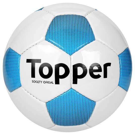 0130b02576a18 Bola Futebol Society Topper Extreme 4 - Branco+Azul Piscina