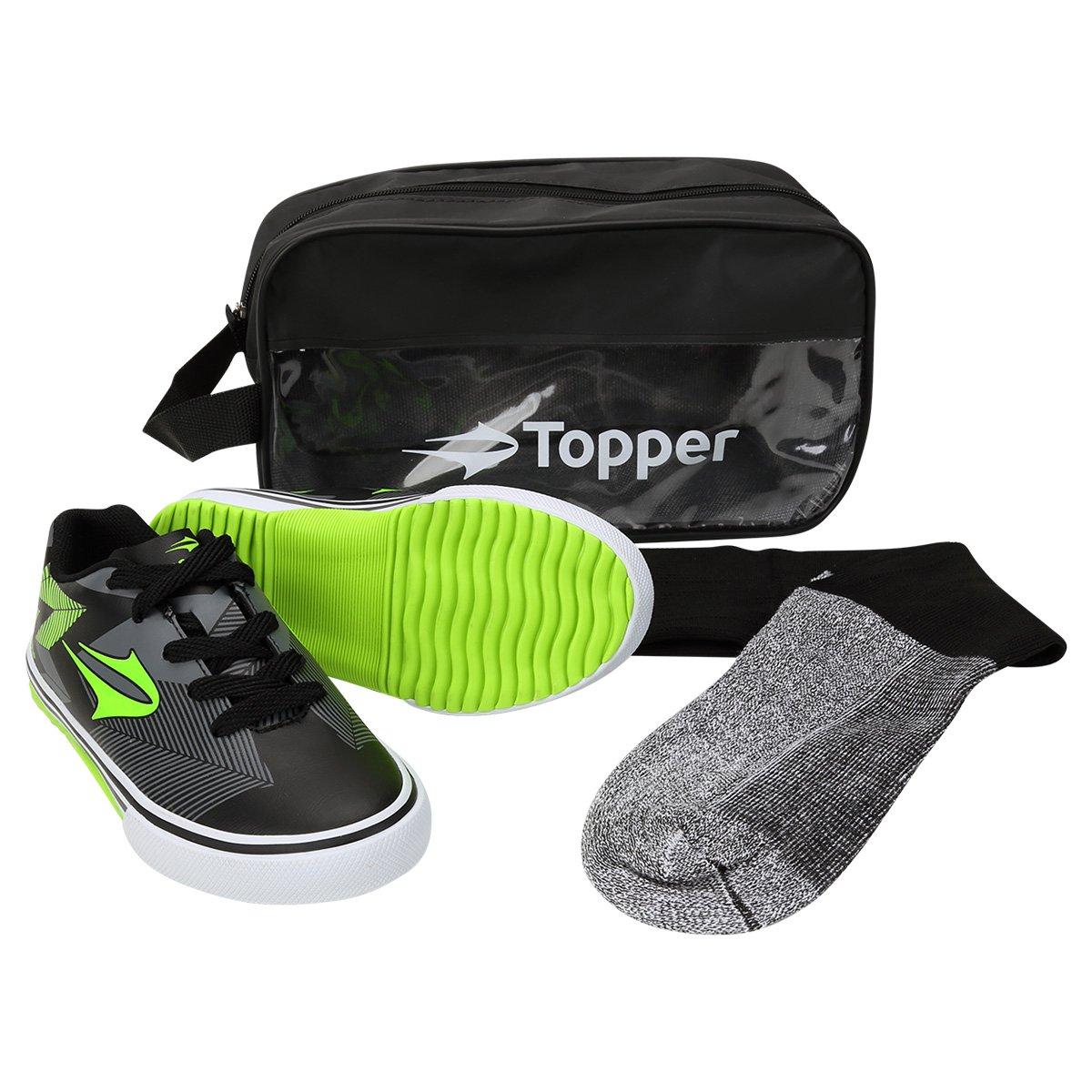 dfeea87130 Kit Topper Goleada Chuteira Futsal com Meião 1 Infantil