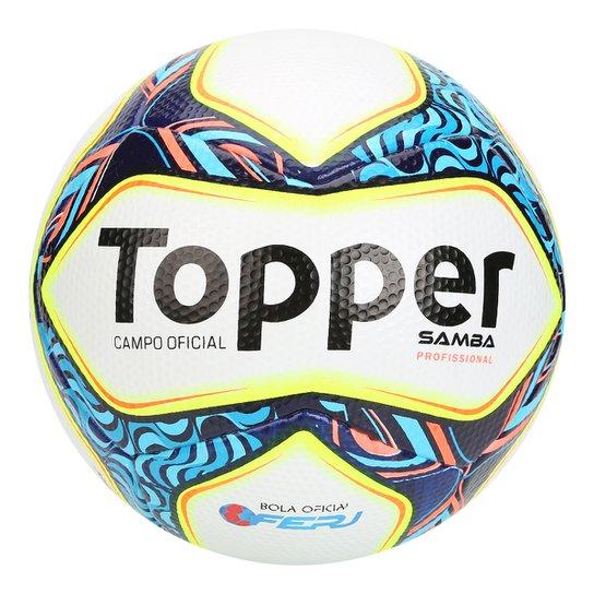 Bola Futebol Campo Topper Samba Pro Oficial - Compre Agora  25bfa26eb1ae7
