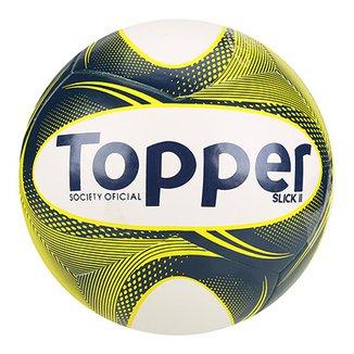 04118361aa Bola Futebol Society Topper Slick II