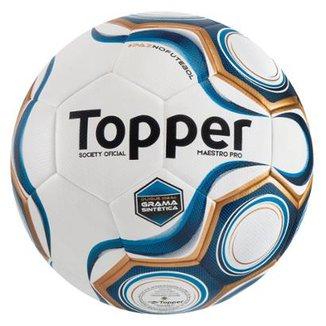 4dbe545979 Bola Futebol Topper Maestro Pro Society Grama Sin