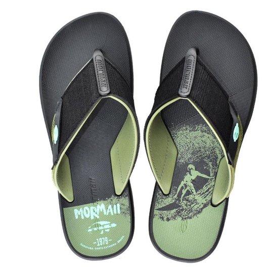 Chinelo Mormaii Drop Ii Masculino - Preto e verde - Compre Agora ... 9c357c3ec5