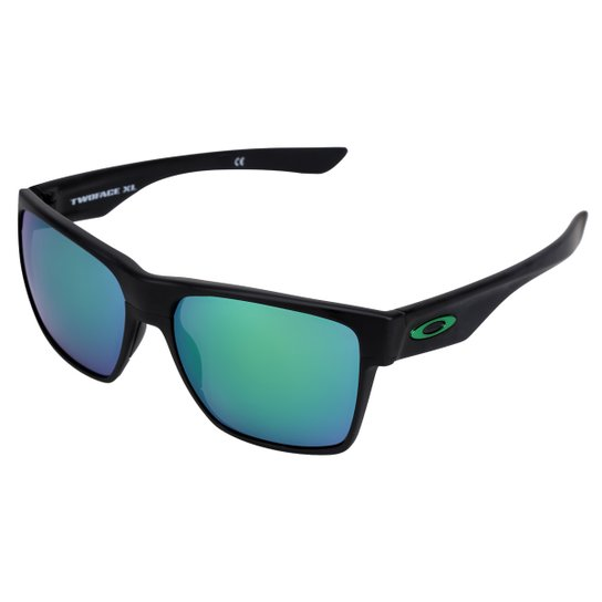 a806a128fc Óculos Oakley Two Face Xl - Preto e verde | Netshoes